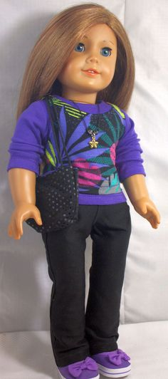 American Girl Doll ClothesBlack Skinny by buttonandbowboutique, $22.00