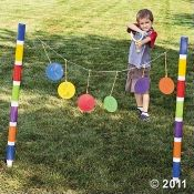 This slingshot game is an outdoor one, but you could modify this idea for use indoors and let kids see how difficult it is to hit a target with a slingshot. Then teach about David and Goliath, of course. :-)