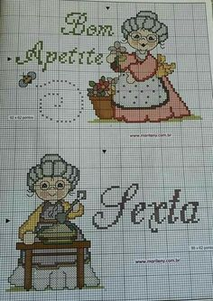 Cross Stitch Kitchen, Cute Designs, Diy And Crafts, Patches, Projects To Try, Embroidery, Cross Stitch Art, Cross Stitch Letters, Cross Stitch Silhouette