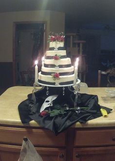 Phantom of the Opera Wedding Cake