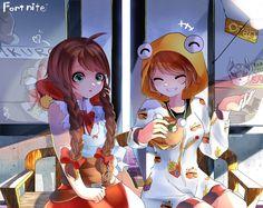 Cool Art Drawings, Cartoon Drawings, Kawaii Anime Girl, Anime Art Girl, Arley Queen, Game Wallpaper Iphone, Best Gaming Wallpapers, Epic Games Fortnite, Eroge
