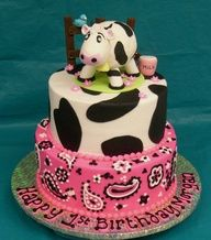 A cow birthday cake