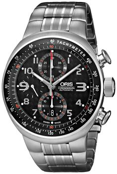 9653f16ee01 Oris Men s 674 7587 7264MB TT3 Titanium Automatic Watch with Link Bracelet  Relógio Automático