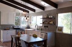 Wow this kitchen went from gross 60's to this beautiful open space.  I want them to come to my house! They did this all themselves.