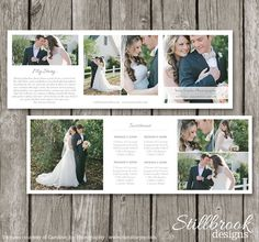 Pricing Guide Template for Photographers - Photography Wedding Trifold Price List Sheet