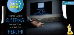 #DidYouKnow  Science Explains Sleeping with the TV on is a Bad for HEALTH!