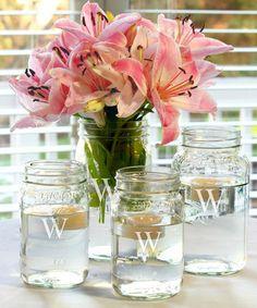 Look at this #zulilyfind! Personalized Mason Jar Vase Set #zulilyfinds