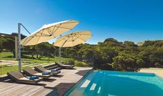 The Riviera Cantilever Umbrella Is Our NZ Designed, Premium Quality Sun Umbrella That Is Strong In The Wind And Made To Last. Pool Umbrellas, Cantilever Umbrella, Sun Umbrella, Backyard, Patio, Pool Landscaping, Pool Ideas, Pool Designs, Design Ideas