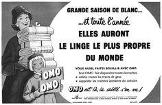 """Pourquoi """"elles"""" ?! Publicité Omo 1957"""