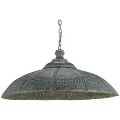 Currey and Company Patois Blackened Steel Patina Pendant 9703