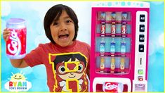 Ryan Pretend Play with Vending Machine Soda Kids Toys!The Vending Machine dispenses toy drinks that's pretends play fun! Kids can learn about money and . Toys For Girls, Kids Toys, Ryan Toysreview, Michael Jackson Youtube, Cool Fidget Spinners, Princess Birthday Party Decorations, Bakugan Battle Brawlers, Frozen Kids, Paw Patrol Toys