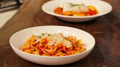 Roast tomato sauce with cod or pancetta