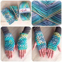 crochetinpaternoster crochet granny gloves