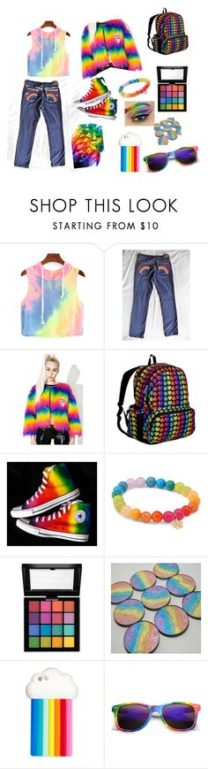 """""""Have pride in showing your true colours 🌈"""" by daisygough ❤ liked on Polyvore featuring Isolated Heroes, Wildkin, Sydney Evan, NYX, STELLA McCARTNEY and pride"""