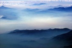 Rolling Mountains in Mist