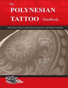 """The polynesian tattoo handbook  Il tatuaggio polinesiano è una forma d´arte che va oltre la semplice estetica: può raccontare storie, proteggere, ispirare.  Tutto questo avviene attraverso la scelta degli elementi che compongono il disegno, importanti non solo per il loro aspetto ma soprattutto per il loro significato.  """"The Polynesian Tattoo Handbook"""" è la guida per capire i simboli, i loro significati e come sceglierli per creare il proprio disegno."""