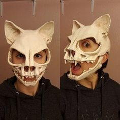 Katze Schädel Maske ohne Ohren Sz S vegan Cat skull mask without ears Sz S vegan Cat Mask, Skull Mask, Sapo Meme, Character Inspiration, Character Design, Harley Davidson Sportster 1200, Ram Skull, Animal Masks, Masks Art