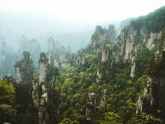 Zhangjiajie China where James Cameron filmed his Avatar movie (OC)(3264x2448)
