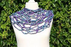 #Loop #Wickelschal #Textilgarn #Schlauchschal #Loopmania #lila #türkis #Loopmania #Tuch #Schal   Hier ein Exemplar aus der Kollektion Loopmania aus der Gruppe der Wickelschals. Diese werden aus...