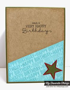 Matching inside ofthe card: Blueprints 18, Delicious Birthday, Spotlight Sentiments:  Wish Big - Inside Card by Kreative Jewels