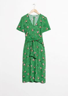 & Other Stories | #andotherstories #dress #floral #green