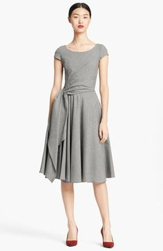 Oscar de la Renta Full Skirt Gingham Dress available at #Nordstrom