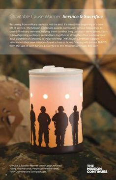 Scentsy's Wounded Warrior Cause Warmer. Coming Fall 2013 #SCENTSY