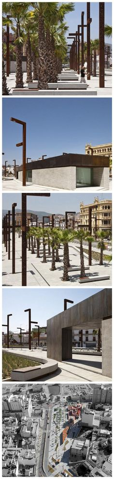 Plaza on the island of Algeciras, Spain by Mariñas Arquitectos Asociados. Click image for link to full profile and visit the slowottawa.ca boards >> https://www.pinterest.com/slowottawa/