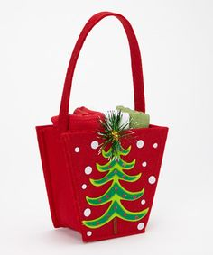 Take a look at this Christmas Tree Gift Box & Dish Towel Set by Design Imports on #zulily today!