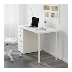 LINNMON / ALEX Tisch, weiß weiß 120x60 cm