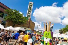 Uptown Art Fair: Art, food, wine and beer garden... I'm down.