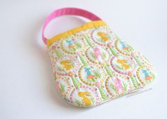 Toddler purse handbag quilted Easter print by PotatoBlossomStudio, $24.00 #rileyblakedesigns #woodlandtails