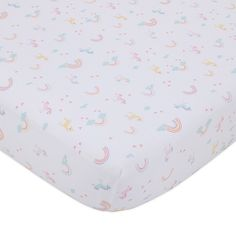 This Little Love by NoJo Rainbow & Unicorn Whimsy Crib Bedding Set offers a whimsical look for your baby's nursery. Set includes a dot pattern crib skirt, rainbows and unicorn print fitted crib sheet, and coordinating reversible comforter. Pink Bedding, Crib Bedding Sets, Crib Mattress, Nursery Bedding, Comforter, Girl Cribs, Crib Sets, Rainbow Unicorn, Baby Unicorn