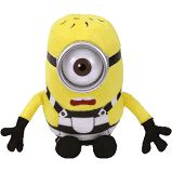 From the move Despicable Me this TY Beanie Baby features Carl the minion in a prison suit. This makes a great addition to your minion or TY collections. Approximately 6 inches. Minions Fans, 3 Minions, New Beanie Boos, Ty Beanie, Beanie Babies, Ty Boos, Ty Plush, Despicable Me 3, Pixar Characters