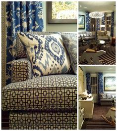 FOCAL POINT STYLING: Home Tour: Fabricut Dinner with Vern Yip for Trend. Find that gorgeous blue ikat at http://www.housefabric.com/03366-Blue-Vern-Yip-Fabric-P225212.aspx