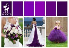 Purple Wedding Inspiration Colour Board by Designcat