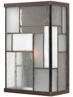 Vintage Lighting. Mondrian Exterior Wall Light In Buckeye Bronze