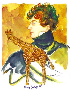 Fine Art Daily - August 27, 2014. Let's Go to London. A giraffe for King George IV!  http://jeandsanders.blogspot.com/2014/08/fine-art-daily-august-27-2014.html