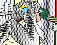 ROY LICHTENSTEIN - NUDE READING - KUNZT.GALLERY  http://www.widewalls.ch/artwork/roy-lichtenstein/nude-reading/ #Print