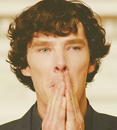 Sherlock the face we make when its time to escape a world of stupidity and go to our mind palace