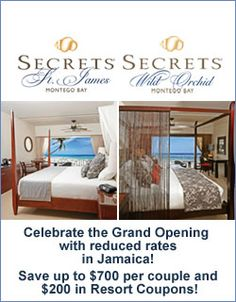 SECRETS St James & SECRETS Wild Orchid - great choices for a a Jamaica Vacation