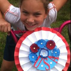 4th of July - decoration I made for katie for bike contest.