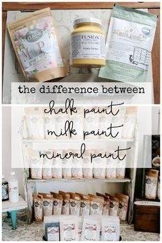 One of the questions that I get asked the most when holding my painting workshops or on Social Media is what is the difference between, Chalk Paint Milk Paint and Mineral Paint | www.raggedy-bits.com | #raggedybits #paint #paintedfurniture #diy #paintingtechnique #fusionmineralpaint #sweetpickinsmilkpaint #missmustardseedmilkpaint