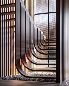 This Minimalistic Staircase Resembles A Strand Of DNA Inside Of A Two-Story Home Staircase Interior Design, Architecture Design, Home Stairs Design, Stairs Architecture, Home Room Design, Modern House Design, Stair Design, Amazing Architecture, Escalier Design