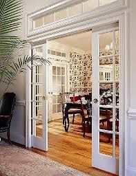 Image result for custom pocket doors with transom