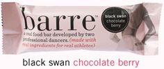 black swan chocolate berry barre - a real food bar developed by two professional dancers.