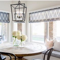 Loved seeing our perfect stripe pillow in this sunny kitchen nook by @lexiwestergard_design! #studiomcgeehc