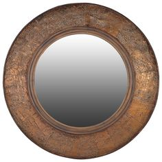 Bark Edge Round Mirror Absolutely gorgeous thus large natural bark wall mirror. Beautiful details in this natural product. Dia: Delivery is on this large mirror. Distressed Mirror, Antiqued Mirror, Bronze Mirror, Gold Home Accessories, Circular Mirror, Rustic Mirrors, Living Room Mirrors, Mirrored Furniture, Round Mirrors