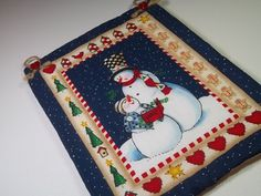 Snowman Wall Hanging by PatsysPatchwork on Etsy, $10.00