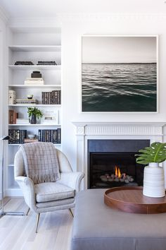 """There are myriad options for sourcing art, including, says San Francisco-based designer Grant Gibson, your own camera roll. Here, a light-filled living room features a shot taken and enlarged by the designer himself. Follow a similar course of action by finding a printer who does large-scale posters. """"See if they'll do a proof for you,"""" Gibson says. """"Then tape it to your wall to see if you like it."""" 